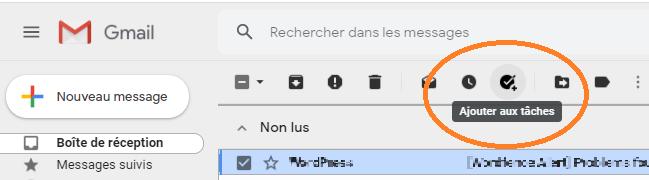 e-mail vers tâche